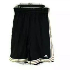 Adidas Sample Basketball Shorts Black White Gold